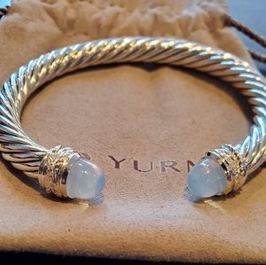 David Yurman Bracelet Moonstone & Diamonds 7mm